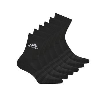 Accessoires Sportstrümpfe adidas Performance CUSH CRW 6PP Schwarz