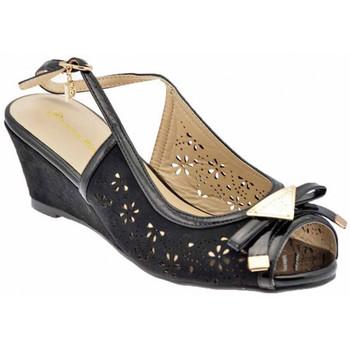Schuhe Damen Sandalen / Sandaletten Laura Biagiotti 418 wedge Schwarz