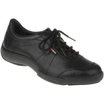 Schuhe Damen Sneaker Low Binom Schnürer Emma Farbe: schwarz schwarz