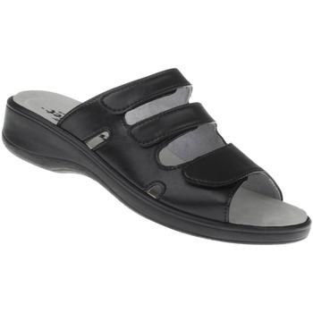 Schuhe Damen Pantoffel Natural Feet Pantolette Ines Farbe: schwarz schwarz