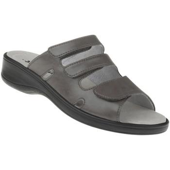 Schuhe Damen Pantoffel Natural Feet Pantolette Ines Farbe: grau grau
