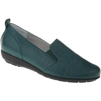 Schuhe Damen Slip on Natural Feet Slipper Clea Farbe: grün grün