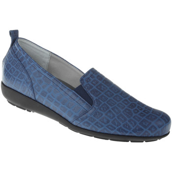 Schuhe Damen Slipper Natural Feet Slipper Clea Farbe: blau blau