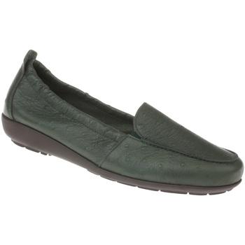 Schuhe Damen Slipper Natural Feet Mokassin Alessandra Farbe: grün grün