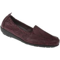 Schuhe Damen Slipper Natural Feet Mokassin Mona Farbe: rot rot