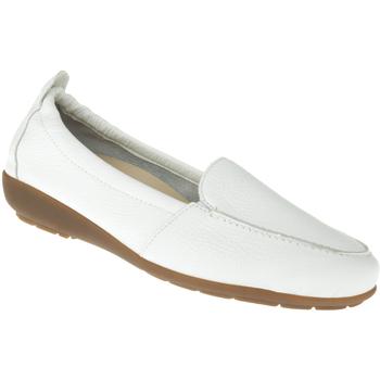 Schuhe Damen Slipper Natural Feet Mokassin Marie Farbe: weiß weiß