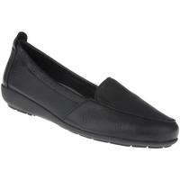 Schuhe Damen Slipper Natural Feet Mokassin Marie Farbe: schwarz schwarz