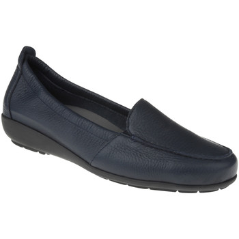 Schuhe Damen Slipper Natural Feet Mokassin Marie Farbe: dunkelblau dunkelblau