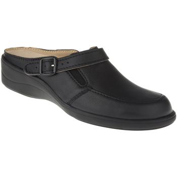 Schuhe Damen Pantoletten / Clogs Natural Feet Pantolette Füssing Farbe: schwarz schwarz