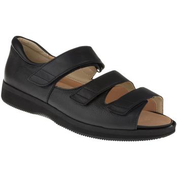 Schuhe Herren Sandalen / Sandaletten Natural Feet Sandalen Marokko XL Farbe: schwarz schwarz