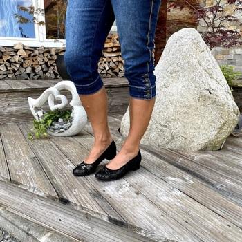 Lei By Tessamino Ballerina Emilia Farbe: schwarz schwarz - Schuhe Ballerinas Damen 7855