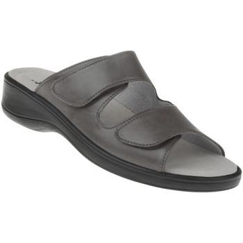 Schuhe Damen Sandalen / Sandaletten Natural Feet Pantolette Leonie Farbe: grau grau