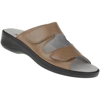 Schuhe Damen Sandalen / Sandaletten Natural Feet Pantolette Leonie Farbe: hellbraun hellbraun