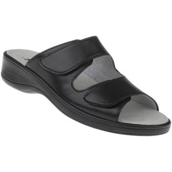 Schuhe Damen Sandalen / Sandaletten Natural Feet Pantolette Leonie Farbe: schwarz schwarz