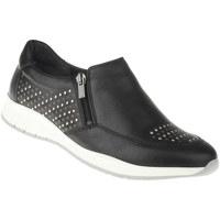 Schuhe Damen Slip on Lei By Tessamino Slipper Teresa Farbe: schwarz schwarz