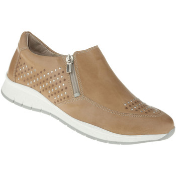 Schuhe Damen Slip on Lei By Tessamino Slipper Teresa Farbe: hellbraun hellbraun