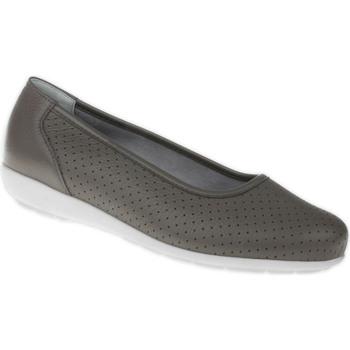 Schuhe Damen Ballerinas Natural Feet Ballerina Annabelle Farbe: grau grau