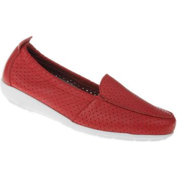 Schuhe Damen Slipper Natural Feet Mokassin Adela Farbe: rot rot