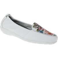 Schuhe Damen Slipper Natural Feet Mokassin Marina Farbe: weiß weiß