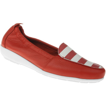 Schuhe Damen Slipper Natural Feet Mokassin Maja Farbe: rot rot