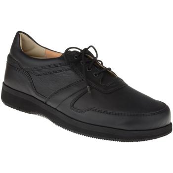 Schuhe Herren Derby-Schuhe Natural Feet Schnürer Karsten XL Farbe: schwarz schwarz