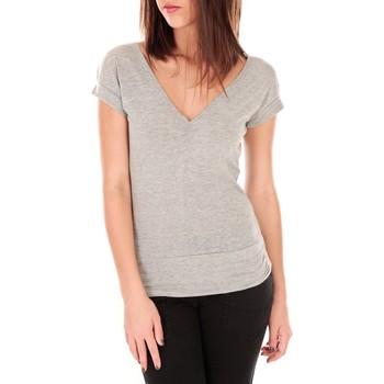 Kleidung Damen T-Shirts By La Vitrine T-shirt dos cache coeur 017 Gris Grau