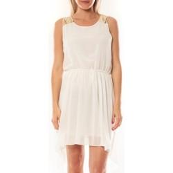 Kleidung Damen Kurze Kleider Tcqb Robe NF 702 Blanc Weiss