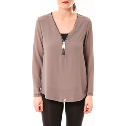 Kleidung Damen Tops / Blusen Vera & Lucy Chemisier Simple Marron Braun