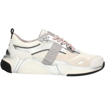 Schuhe Damen Sneaker Low Blauer 9FMONROE01 Weiß und Silber