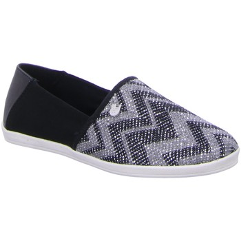 Schuhe Damen Slipper Tom Tailor Slipper 9696904,black 9696904 grau