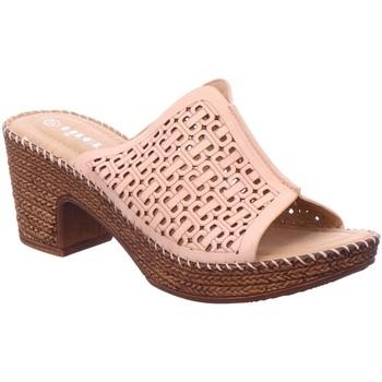 Schuhe Damen Pantoffel Firence Pantoletten Pantl-ab30mm-Abs 1009194 beige