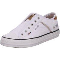 Schuhe Damen Tennisschuhe Mustang Slipper 1272401 1 weiß