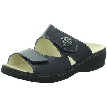 Schuhe Damen Pantoffel Longo Pantoletten Bequem-Pantolette,night blue 1019265 8 schwarz