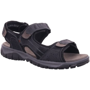 Schuhe Herren Sandalen / Sandaletten Longo Offene -Sandalette,black/grey 1025303 schwarz