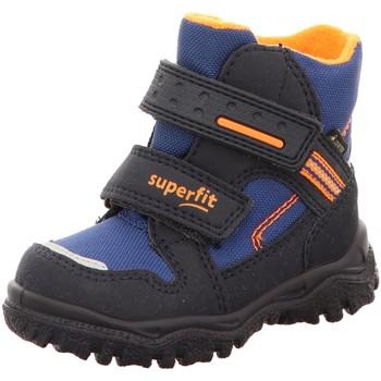 Schuhe Jungen Sneaker High Superfit Klettstiefel 09044-82 blau