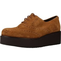 Schuhe Damen Richelieu Clover 7580C Brown