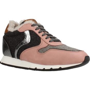 Schuhe Damen Sneaker Low Voile Blanche JULIA SLAM FUR NABUK Rosa