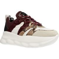 Schuhe Damen Sneaker Low Meline OP402 Rot