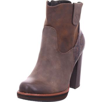 Schuhe Damen Low Boots S.Oliver botte BROWN COMB.