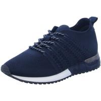 Schuhe Damen Sneaker Low La Strada Schnuerschuhe leicht gefüttert 1832649 blue blau