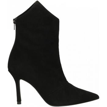Schuhe Damen Low Boots Marc Ellis CAMOSCIO nero