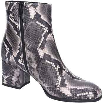Schuhe Damen Boots Lamica Stiefeletten Bull Fac Gomma Pelle Pitone QUASY 6245 GRIGIO animal