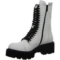 Schuhe Damen Klassische Stiefel Dna Stiefeletten -Schnür-Bootie C40-3660-02 weiß