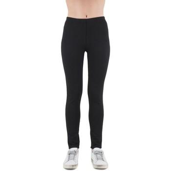 Kleidung Damen Leggings Anonyme Glenda Schwarze Leoparden Hose  ANYP139FP148BLA Noir