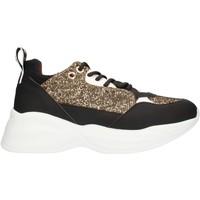 Schuhe Damen Sneaker Low Alexander Smith SP73896 Schwarzes Gold und Weiß