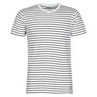 Kleidung Herren T-Shirts Yurban KINO Marine / Weiss