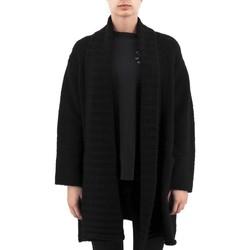 Kleidung Damen Strickjacken Anonyme Schwerer Woll-Demeter-Jersey Schwarz  ANYP259FK Noir