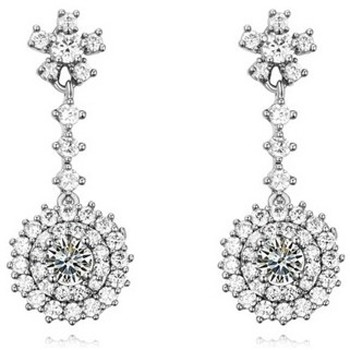Uhren & Schmuck Damen Ohrringe Blue Pearls PDC C321 Weiss
