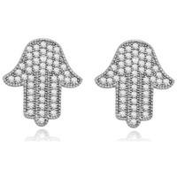 Uhren & Schmuck Damen Ohrringe Blue Pearls PDC C329 Weiss