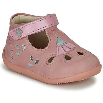 Schuhe Mädchen Sandalen / Sandaletten Kickers BLUPINKY Rose / Silbern